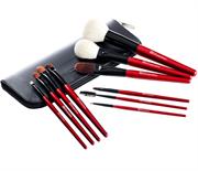 Bộ Cọ Trang Điểm 10 Cây BH Cosmetics 10 PC Deluxe Makeup Brush Set - Red
