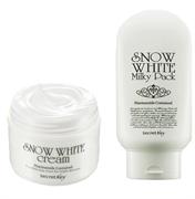 Kem Dưỡng Trắng Snow White Milky Cream & Pack Secret Key