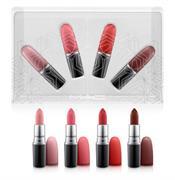 Set 4 Chiếc Son Thỏi MAC Warm Snow Ball Mini Lipstick Kit Limited