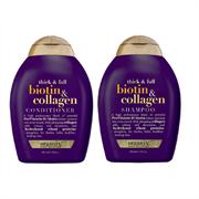 Cặp Dầu Gội Xả OGX Biotin Collagen Shampoo & Conditioner 385ml