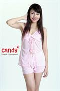 Bộ đùi áo hai dây mặc ngủ nhãn hiệu Candy 5019