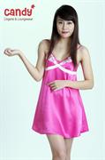 Váy ngủ lụa Candy 3102, màu hồng