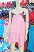 Váy ngủ nữ Ren nhãn hiệu Candy_5014 - Màu hồng nhạt