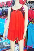 Váy ngủ nữ Ren nhãn hiệu Candy_5014 - Màu đỏ tươi