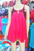 Váy ngủ nữ Ren nhãn hiệu Candy_5014 - Màu đỏ