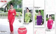 Bộ mặc nhà PALTAL dài tay Thu Đông 2015, mẫu mới