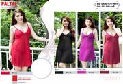 Váy ngủ lưới PALTAL QAND 0801, kèm cả quần, có 4 màu như hình