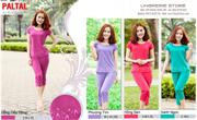 Bộ đồ thời trang mặc nhà nữ PALTAL, chất liệu Cotton_243408