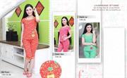 Bộ đồ thời trang mặc nhà nữ PALTAL, chất liệu Cotton_242523