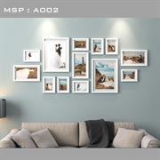 Bộ khung ảnh treo tường đẹp A002