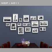 Bộ khung ảnh treo tường khung gỗ thông A011