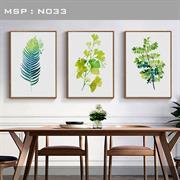 Bộ khung tranh lá cây ấn tượng N033