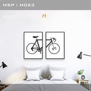 Tranh trang trí hình xe đạp N023