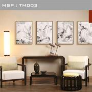 Tranh thủy mặc sơn thủy đẹp - TM003