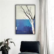 Bức tranh cây trang trí theo phong cách trừu tượng N069