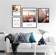 Bộ tranh treo tường phong cảnh Châu Âu đẹp N156