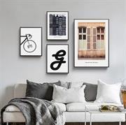 Tranh treo tường phong cách Bắc Âu trên nền vải lụa canvas N154