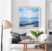 Tranh phong cảnh biển theo phong cách Scandivan hiện đại N148