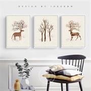 Bộ tranh treo tường chú hươu đẹp N133