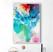 Tranh trừu tượng màu sắc độc đáo trên vải canvas N130