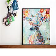 Tranh trang trí hình chú hươu màu sắc N084