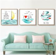 Bộ tranh treo tường phong cách biển cho phòng của bé N079