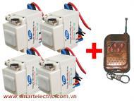 Gói 04 công tắc RC1P và 01 remote RM04