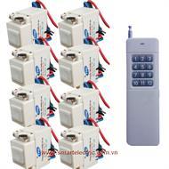 Bộ 8 công tắc RC1P và 1 remote RM12