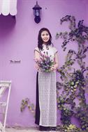 Áo dài trắng AD048