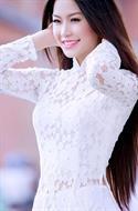Áo dài ren trắng