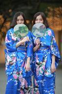 bộ kimono xanh trời