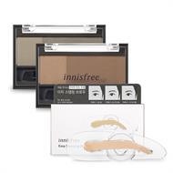 Bộ Bột Tán Và Khuôn In Chân Mày Innisfree Two-tone Eyebrow Kit + Innisfree Easy Stamping Brow