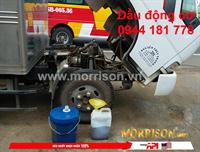 Cận cảnh thay dầu động cơ Morrison 15W-40 cf4