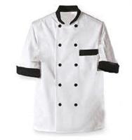 Áo bếp nam cộc tay vải thô trắng
