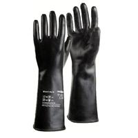 Găng tay cao su chống hóa chất màu đen trung