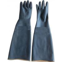 Găng tay cao su chống hóa chất màu đen