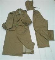 Áo mưa măng tô màu bồ đội