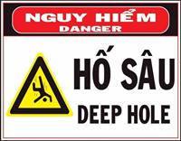 Biển báo hố sâu nguy hiểm