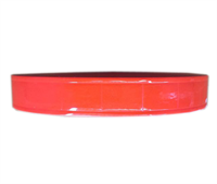 Dây nhựa phản quang bản 2.5cm màu đỏ cam