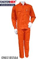 Quần áo bảo hộ vải kaki màu điện lực