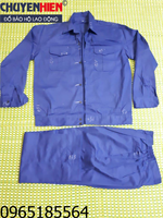 Quần áo bảo hộ màu xanh công nhân vải kaki Nam Định