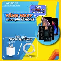 TẶNG NGAY 200 CỦ SẠC HOẶC CÁP SẠC NHANH KHI THAY PIN iPHONE BẤT KỲ