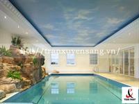 Mẫu trần xuyên sáng bể bơi in bầu trời số 3