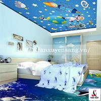 Mẫu trần phòng ngủ trẻ em xuyên sáng số 1