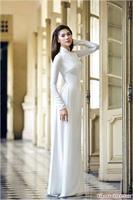 Áo dài lụa trắng