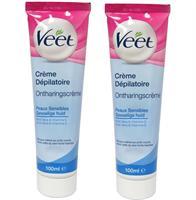 Kem tẩy lông Veet Creme Depilatorie Ontharingscreme 100ml cho da nhạy cảm
