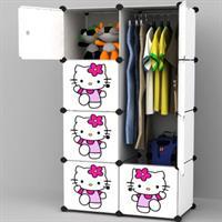 Tủ nhựa đựng đồ đa năng Hellokity 4 tầng 6 ngăn - TN0031