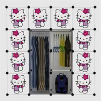 Tủ nhựa thông minh cao cấp Hello Kitty 4 tầng 12 ngăn - TN0034