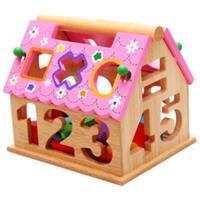 Đồ chơi gỗ giáo dục dạng nhà thả khối AWS0020