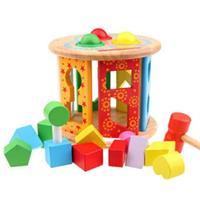 Đồ chơi gỗ giáo dục dạng hộp thả khối AWS0061